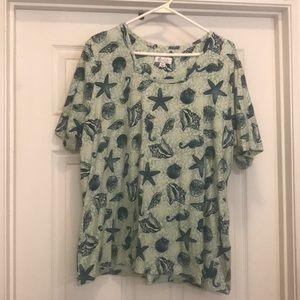 NWOT denim & co short sleeve shirt